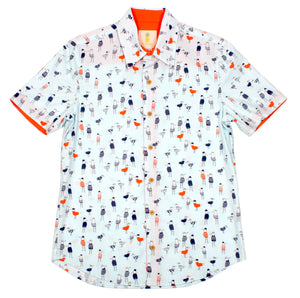 Seagulls in Sweaters - Short Sleeve Woven Shirt
