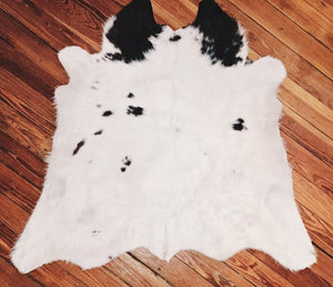 White Cow Hide Rug