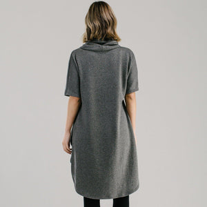 Cowl Dress - Charcoal Dresses Avila the label