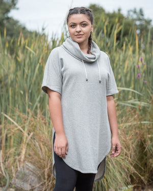 Cowl pullover - light grey marle Dresses Avila the label