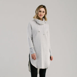 light grey marle pilates and yoga pullover - Avila
