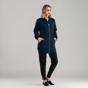 Navy sports luxe long bomber - Avila