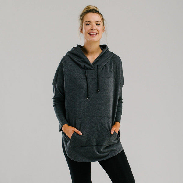 Organic cotton quilted oversized hoodie. Sportswear hoodie