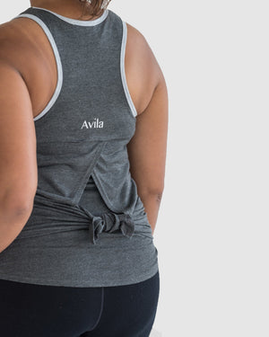 Tie and go singlet - Charcoal Avila the label