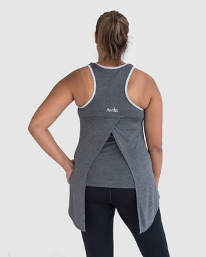 Tie and go singlet - Charcoal Avila the label XS/8 Charcoal grey