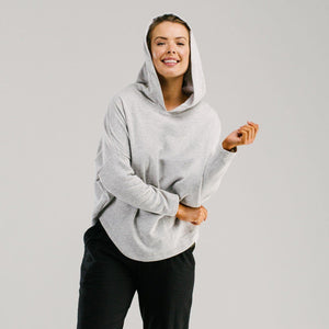 Light grey made swing hoodie - Avila