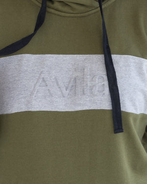 Emboss Logo Hoodie - Olive Avila the label