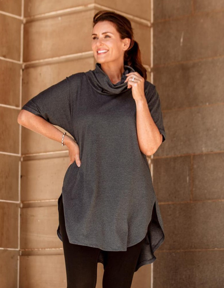 Jersey Cowl pullover Dresses Avila the label