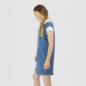 Tencel hooded dress - Blue Dresses Avila the label