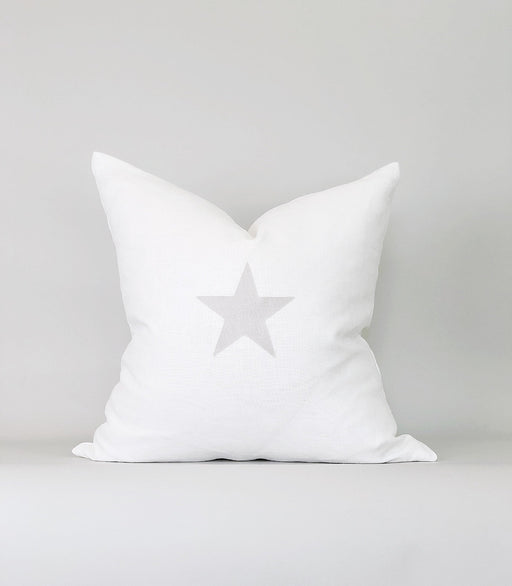 20x20 Linen Holiday Nursery Pillow Case Star Modern Farmhouse  Designer Neutral