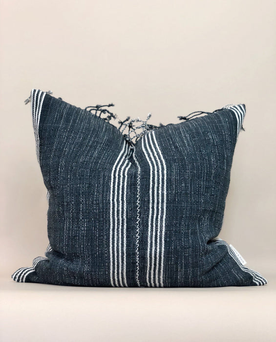 21x21 Fringe Handwoven Pillow Case Striped Thailand Textile Designer