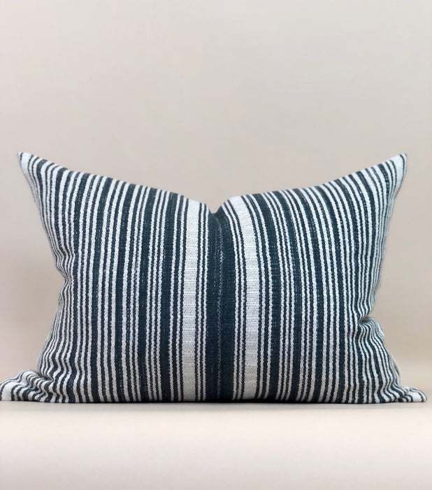 16x21 Thailand Stripe Pillow Case Handwoven Stripe Textile Designer