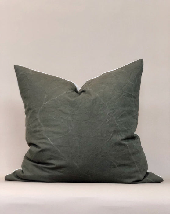 Army Canvas Vintage Pillow Case Fall Decor European Textile