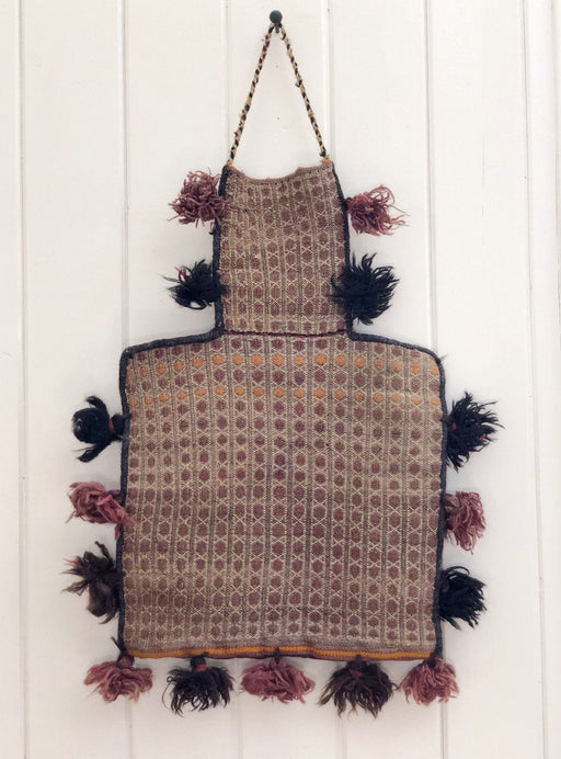 Moroccan Wall Hanging Woven Camel Bag With tassels Vintage Decor