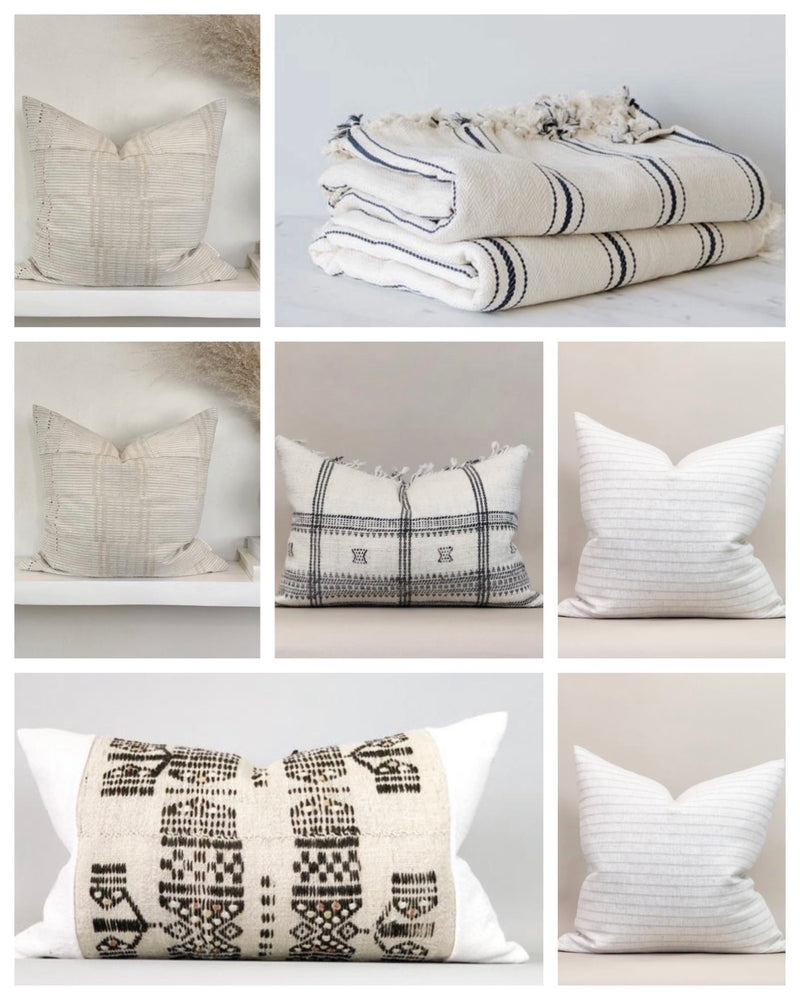 Custom collection ••• Seven pillow cases and a king throw