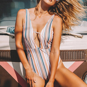 So Unique Stripe One-piece