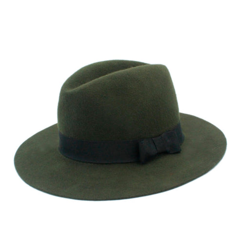 100% Wool Wide Brim Floppy Felt Vintage Hat
