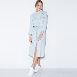 Retro Faded Denim Dress