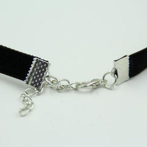 Vintage Retro Black Velvet Choker Necklace