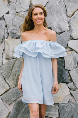 Off Shoulder Sleeveless Dress