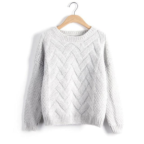 Thick Knitted Winter Pullover