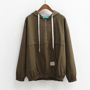 trendy-loose-windbreaker-jacket-olive
