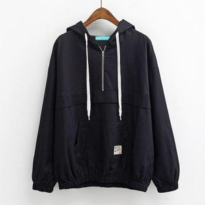 trendy-loose-windbreaker-jacket-black