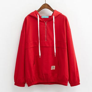 trendy-loose-windbreaker-jacket-red