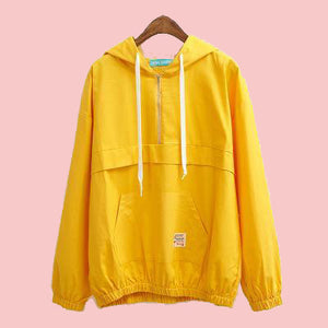 trendy-loose-windbreaker-jacket-yellow