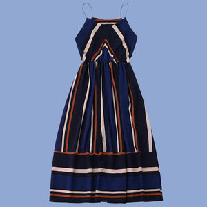 Vintage-Striped-Sleeveless-Summer-Dress-blue