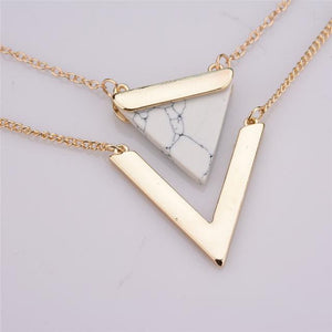White-Gold-Geometric-Pendant-Necklace