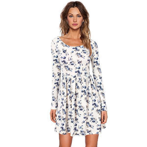 Long-Sleeve-White-Retro-Floral-Dress