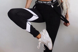 Black Print Workout Women Fitness Legging