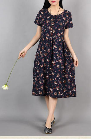 Navy-Casual-Floral-Summer-Dress