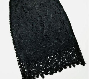 Vintage Lace Skirt High Waist