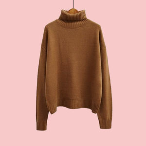 autumn-long-sleeve-loose-turtleneck-pullover