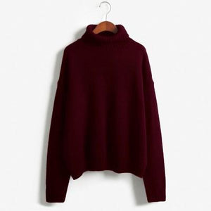 autumn-long-sleeve-loose-turtleneck-pullover-maroon