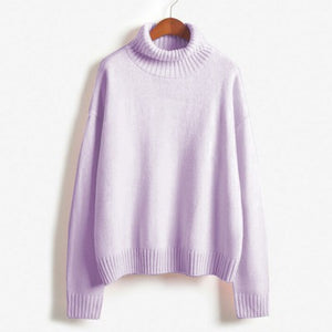 autumn-long-sleeve-loose-turtleneck-pullover-pink