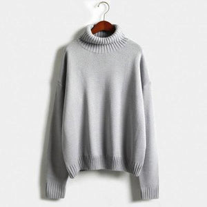 autumn-long-sleeve-loose-turtleneck-pullover-grey