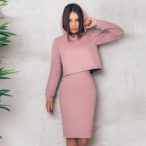 pink-two-piece-sweater-and-pencil-skirt