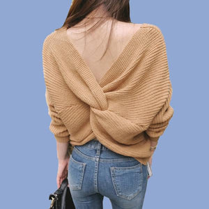 knotted-off-the-shoulder-oversized-sweater