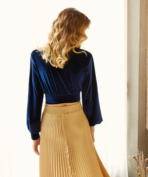 Vintage Royal Blue Blouse