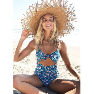 Exile Vintage Cut Out Monokini Swimsuit