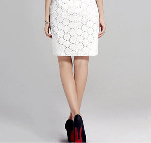 Sheath hollow patchwork lace dress
