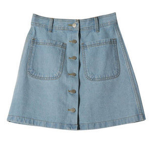 Vintage Denim Mini Skirts