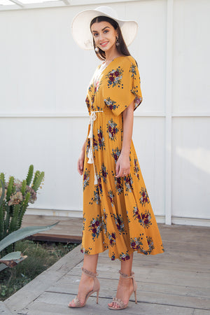 Lace Up Long Dress