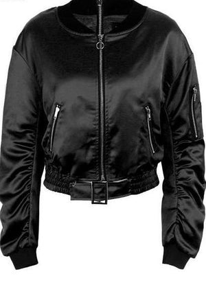 Winter waist bomber jacket