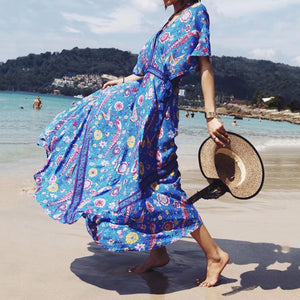 Boho Hippie Robe Dress