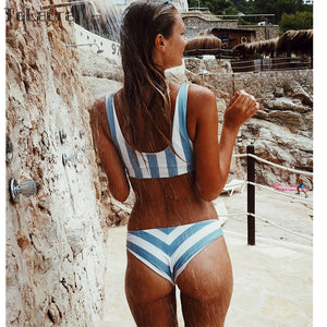 Exile Striped Brazilian Bikini
