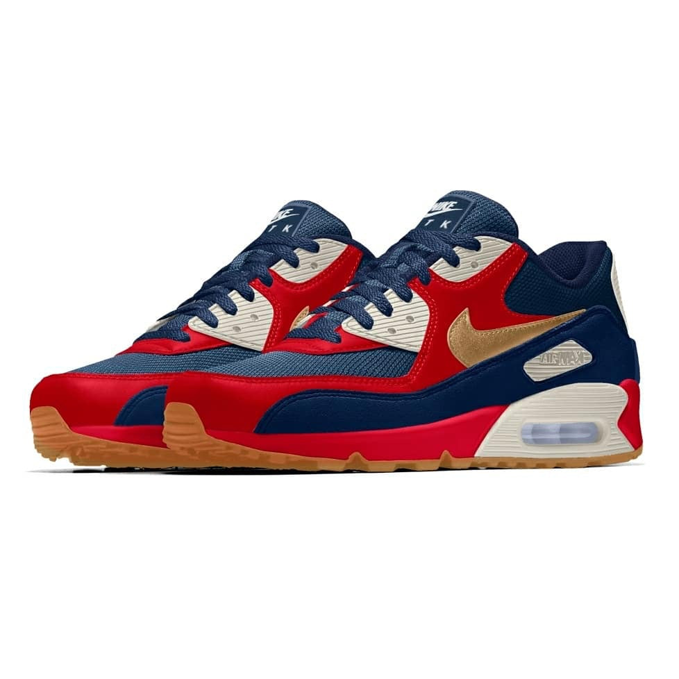 "brand new af7e6 b6e39 nike id air max 90 custom NIKEiD x OTK CUSTOM NIKE AIR MAX 90 ""Olympic  Gold†– Out The Kaje"